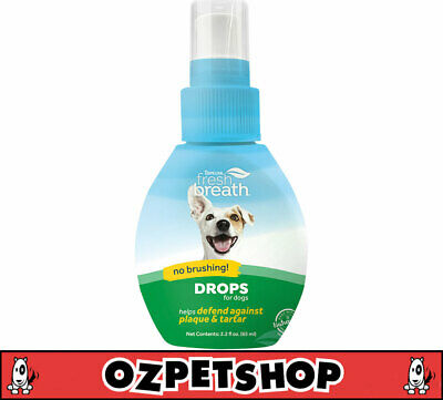Tropiclean Fresh Breath Drops for Cats & Dogs - 65ml Concentrate