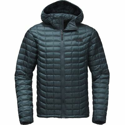 The North Face Mens Thermoball Puffer Conquer Blue Hooded Jacket Sz M L XL XXL