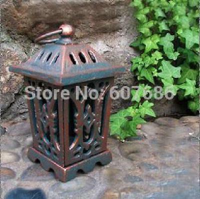 Vintage Rustic Iron Metal Hang Garden Lantern Candle Holder Home Decorations Han