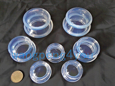 7 PCS Medical Vacuum Silicone Transparent THERAPY Massage Body Cups Cupping Jar