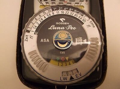 Gossen Luna-Pro Ambient Light Meter With Case, Free Shipping