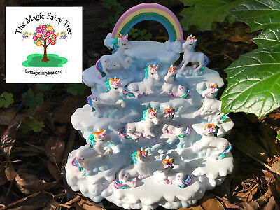 12 magical rainbow unicorns on cloud display craft decor cake decorations party