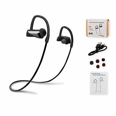 Bluetooth 4.1 Wireless Sports Earphones Shake Proof Mic IPX5 8 hr Play time