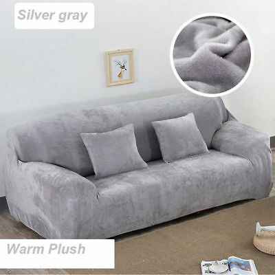 1--4 Seats Elastic Fabric Sofa Cover Sectional/Corner Couch Cover Easy Fit Home