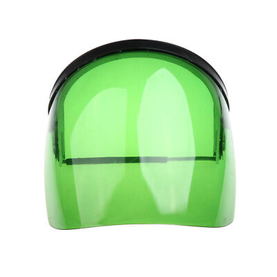 Protective Clear Green Face Shield - Light, Firm, Flame Retardant, UV-Proof