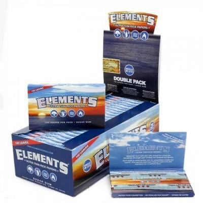 Elements Single Wide SW 1.0 Ultra Thin Rice Rolling Papers 2 Pack/Full Box Price