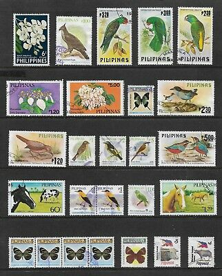 PHILIPPINES mixed collection No.16, Flowers Birds Butterflies Animals