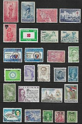 PHILIPPINES mixed collection No.17, incl surcharges, overprints