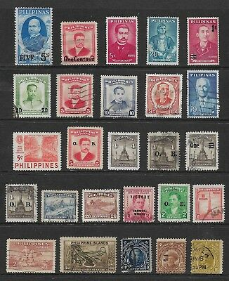 PHILIPPINES mixed collection No.18, incl surcharges, overprints