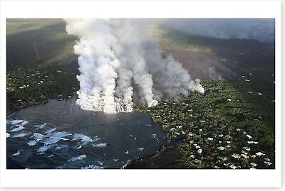 Fissure 8 Lava Fountains Kilauea Volcano Hawaii 2018 Silver Halide Photo