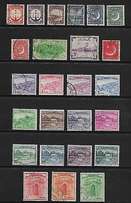 PAKISTAN mixed collection No.11, 1948-1961, used
