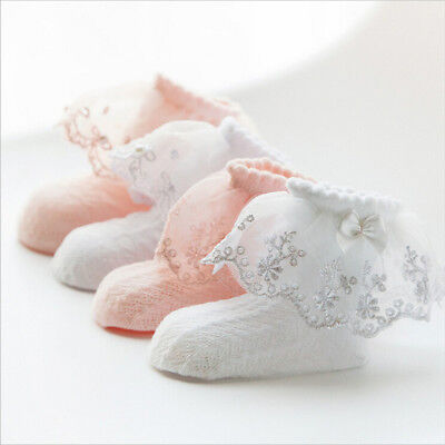 Baby Princess Lace Socks Girls Frilly Laced Top Ankle Socks Sock Cute XJ