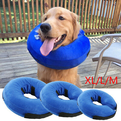 Inflatable Pet Dog Cat Collar Neck Protective Injury Recover Cone New AU
