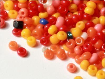 Lot (1500) 1-2 mm Czech vintage mixed color seed glass beads