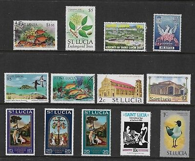 ST LUCIA mixed collection No.2, mint & used