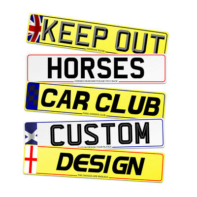 Custom Show plates and signs
