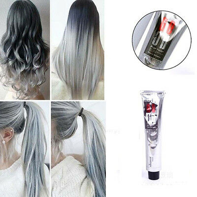 100Ml Light Gray Color Hair Cream Natural Permanent Herbal Hair Dye Cream Eager