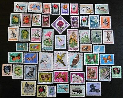 HUNGARY mixed collection No.36, incl Flowers Butterflies Birds Animals Fish