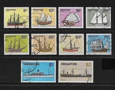 SINGAPORE - 1980 Ships, Boats, No.7, 10 of 13, used