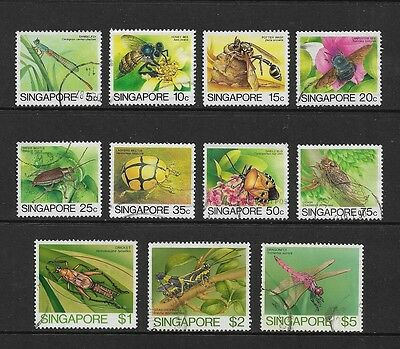 SINGAPORE - 1985 Insects, No.2, to $5, 11 of 12, used