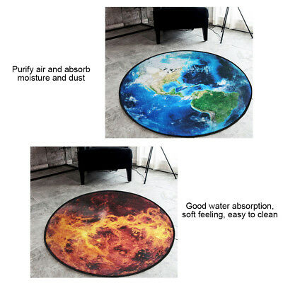 3D Earth Round Carpet Parlor Living Room Mats Chair Mat Bath Rug Home Use lovely