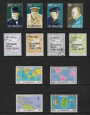 ST VINCENT mixed collection, 1974 1979 1980 sets, mint MH MUH & CTO