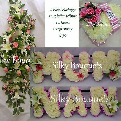Mum Silk Funeral Flower Tribute Artificial Wreath Package Memorial Nan Dad Son