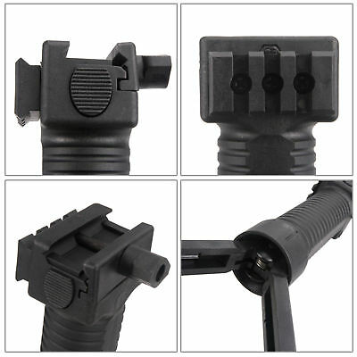 US STOCK Tactical Foregrip Vertical Grip Bipod 20mm Picatinny Rail Mount 4 Rifle