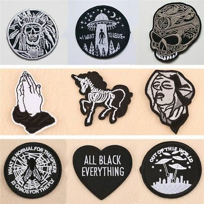 1pc Embroidery Patch Badge Sew Iron On Fabric Bag Hat Jeans Applique Craft DIY