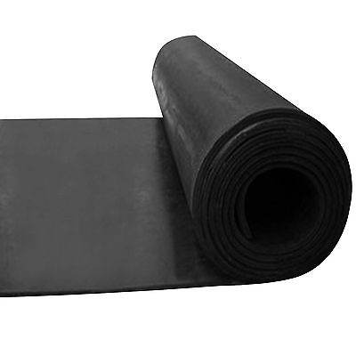 Commercial Grade Black Rubber Sheet Garage Flooring Rolls 10 METER X 1.4 M WIDE