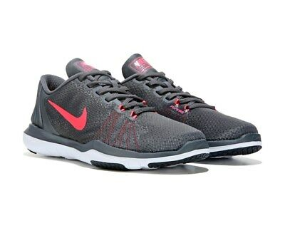 cc0f7ec149f7d Nike Flex Supreme Tr Dark Grey Hot Punch 9 M Nib  80 Women Training Shoes