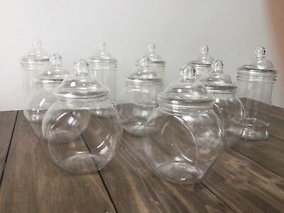 10 Mixed Plastic Sweet Jars Candy Cart Table Buffet Weddings Engagement Party