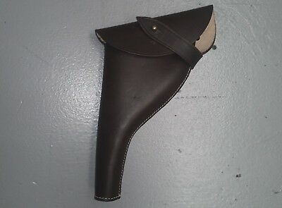 Left Hand - Ww1 Webley Leather Revolver Officers Holster - Repro
