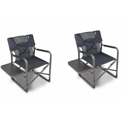 Kampa Forte 180 Folding Camping Directors Chair - BUNDLE PACK OF TWO