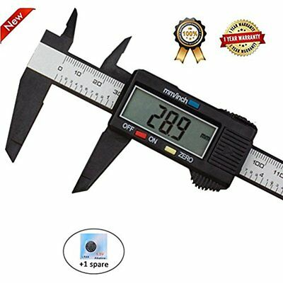150mm 6inch LCD Digital Electronic Vernier Caliper Carbon Fiber Gauge Micrometer