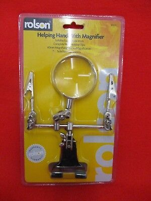 Helping Hand With Magnifier Rolson New In Packaging Hobbies Close Work