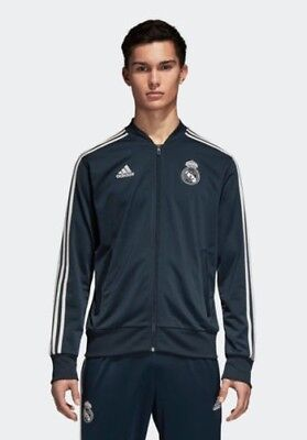 Real Madrid Adidas Jacke Training 2018 19 Pes Version Bank Herren Blau