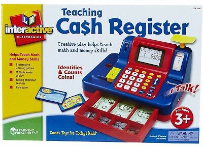 Cash Register Toy Play Pretend Kids Calculator Electronic Supermarket Learning