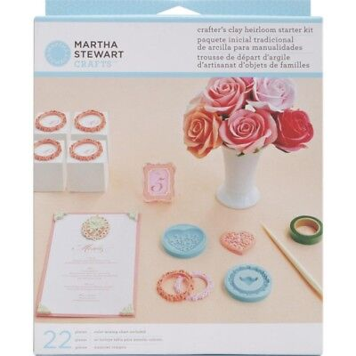 Martha Stewart Crafts Clay Heirloom Heart Frames Silicone Molds Starter Kit Set