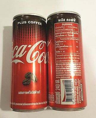 "Coca Cola can THAILAND Collector PLUS COFFEE COLA 5"" Tall 250ml Promo"