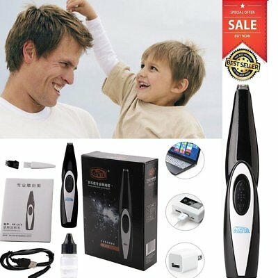 Rechargeable Electrical Clipper Trimmer Baby Kids Adults Hair Cutter Cordless BU