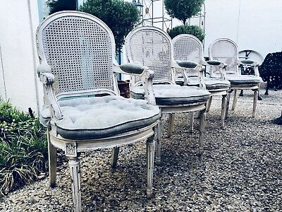 Vintage Cane Chairs French Style