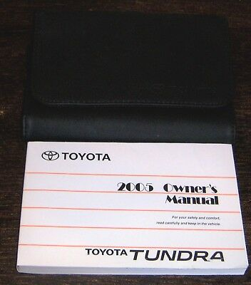 2005 toyota tundra owners manual with deluxe case oem 30 78 rh picclick co uk Toyota Tundra Fuse Box Diagram 2004 toyota tundra owners manual