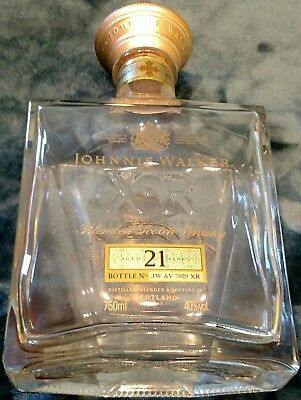 Beautiful Johnnie Walker XR bottle only aged 21 years empty