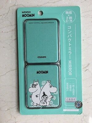 Official Moomin Travel Handbag make up Mirror original Tove Jansson Moominland