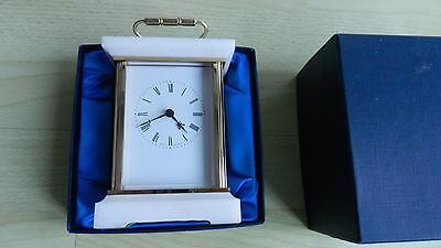 Quality Brass quartz carriage clock, Manufactured by Weiss clocks in the 1970's.