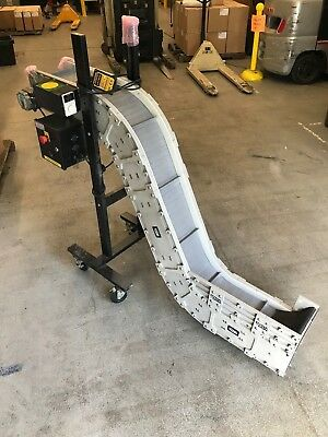 "Dyna-Con 8"" Cleated Plastic Belt Conveyor Dynamic Variable and Fixed Speed"