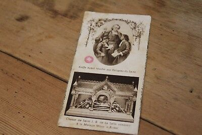 Antique French Catholic Relic Card of St Jean-Baptist (1937) (Lot 7)