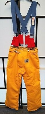 Honeywell Morning Pride Firefighter Turnout Pants w Suspenders Size 34x30