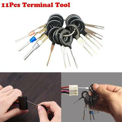 11Pcs Car Connector Pin Extractor Terminal Removal Tools Electrical Wiring Crimp